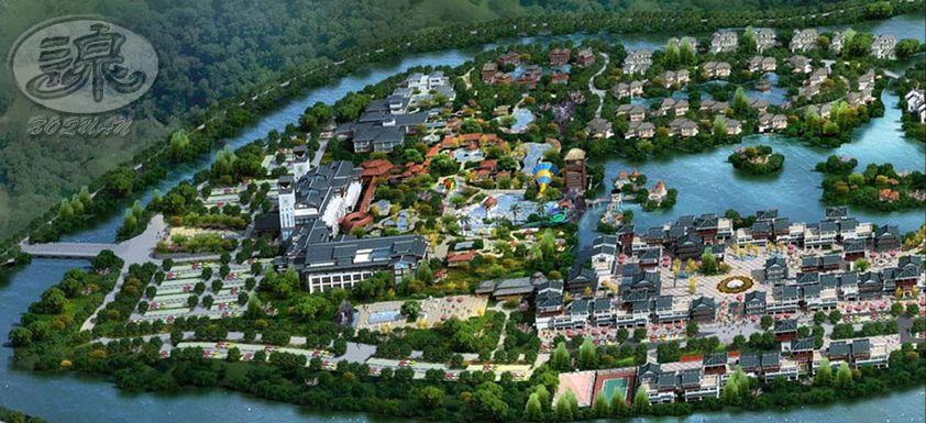 江西德兴瑞港温泉旅游小镇_广州泊泉风景园林工程设计